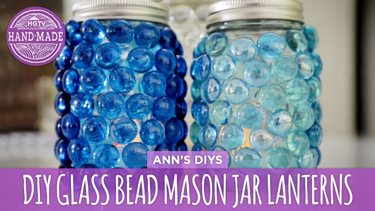Diy Glass Bead Mason Jar Lanterns Hgtv Handmade Youtube