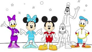 mickey mouse   parte 2   disney   colorear a mickey minnie donald daisy pluto   juego de pintar