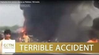 Explosion d'un camion-citerne au Pakistan, 153 morts