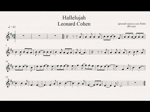 HALLELUJAH: Bb inst (clarinete,trompeta,saxo sop/tenor)(partitura con playback)