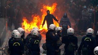 Полиция разогнала  демонстрацию противников приезда Барака Обамы в Афины.