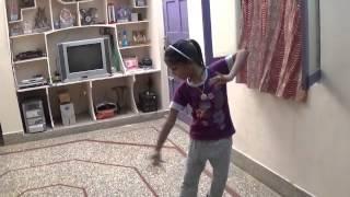 Aashritha practicing kuchipudi bhamakalapam