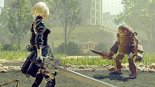 NieR Automata - 1 Hour of AMAZING Gameplay Part 1 (PS4, PC) 2017