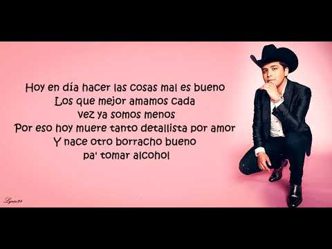 Christian Nodal – Nace Un Borracho (Letra/Lyrics)