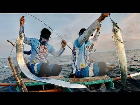 Fun To Catch 2 Big Scabbards | Vertical Jigging In The Philippines | Afternoon Jigging Trip | Fishin