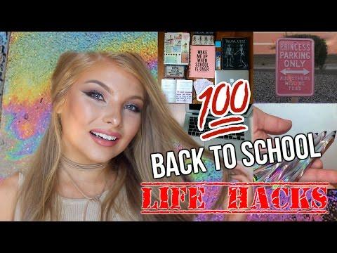 100 BACK TO SCHOOL LIFE HACKS