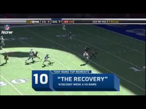 Tony Romo top 10 plays as a Dallas Cowboy