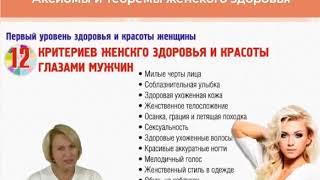 АЗ О Бутакова «Аксиомы и теоремы женского здоровья». 2018 07 10