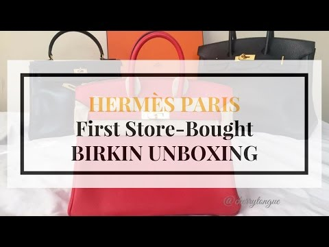 Part 4: HERMES PARIS SCORED BIRKIN UNBOXING | first store bought birkin | reavel, mod shot, close up