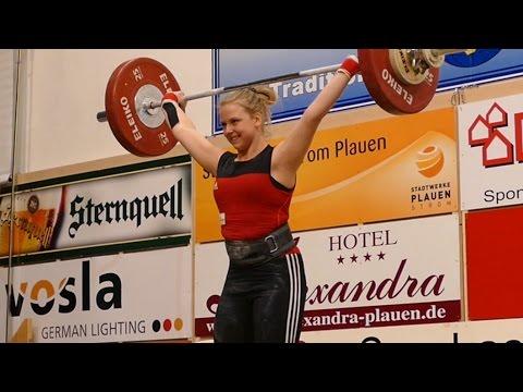 Frauen 69kg Deutsche Meisterschaft Gewichtheben 2016 Plauen