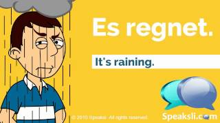 German Weather Expressions | Learn German | Speaksli