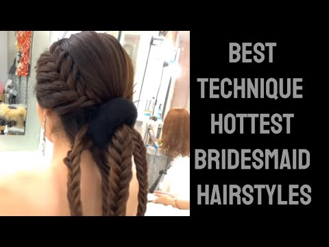 Bridal hairstyle with curls for long hair tutorial
