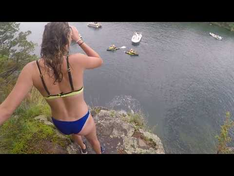 Lake George 60ft Cliff Jump