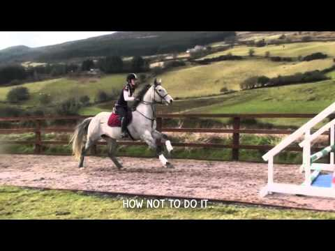 How not to jump your horse 10ft wide.