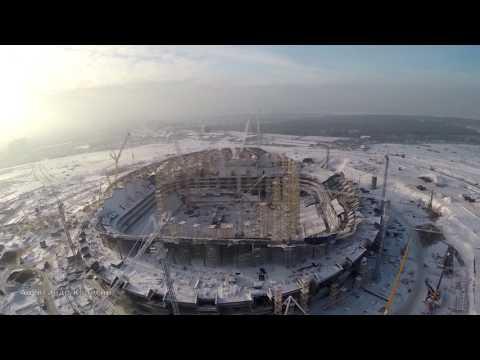 Стадион  Cosmos Arena  часть 31  январь 2017 Samara