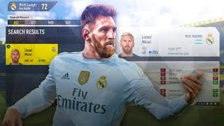 Lionel messi retires in fifa 17 career mode with 1 pace?!