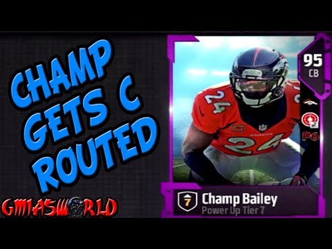 CHAMP BAILEY GETS C ROUTED IN WEEKEND LEAGUE! NO NEED TO PANIC THOUGH MADDEN 18 ULTIMATE TEAM