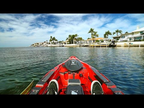 Kayak Fishing by $1,000,000 Homes in Florida! - Offshore (Po
