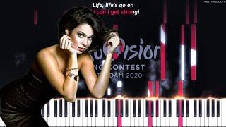 Samanta Tīna - Still Breathing (Latvia - Eurovision 2020) | Piano Instrumental Cover Karaoke Lyrics