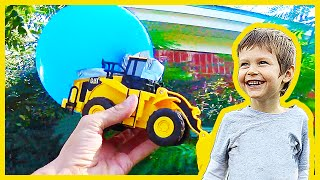 Toy Construction Truck Balloon Surprise Shoutout