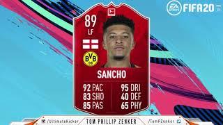 FIFA 20 SBC Jadon Sancho Bundesliga POTM CHEAPEST SOLUTION 271000 FUT 20 SQUAD BUILDING CHALLENGE