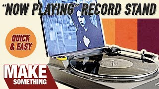 A quick and simple woodworking project on making a display stand for the currently playing record. Subscribe for weekly ...