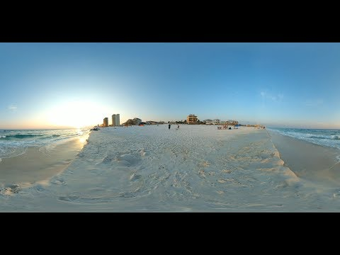 Awesome 360 Video of Panama City Beach, FL Wave Action and Sunset