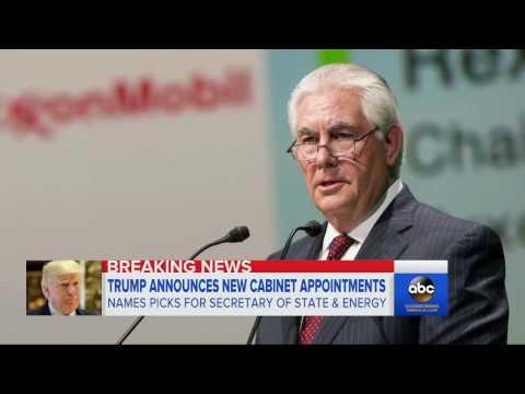 Trump Cabinet | Rex Tillerson Secretary of State Pick Draws Critcism