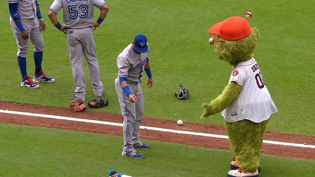 Astros Mascot >> Jose Bautista Vs Astros Mascot Orbit