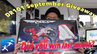 DroneRacer101 September 2018 Giveaway! Airhogs DR1 Drone, XJB Winner, Runcam 3S Winner