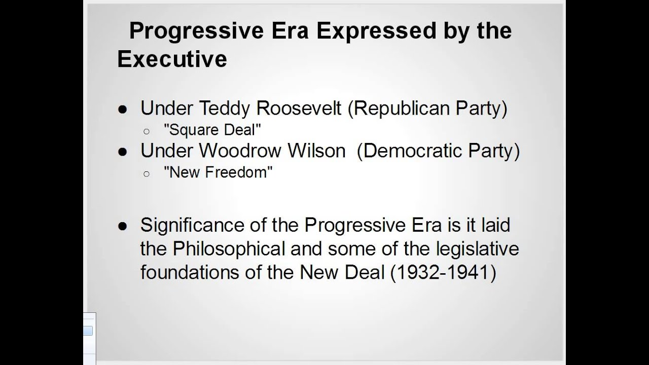according to roosevelt what are the characteristics of a progressive