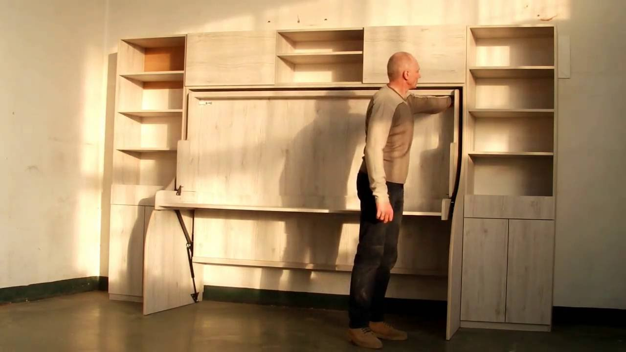 Wall bed with desk murphy bed marmell youtube wall bed with desk murphy bed marmell amipublicfo Gallery