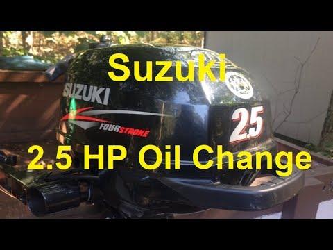 Suzuki 2.5 HP 4-Stroke Outboard Oil Change - YouTube