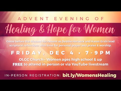 Advent Evening of Healing & Hope for Women Promo
