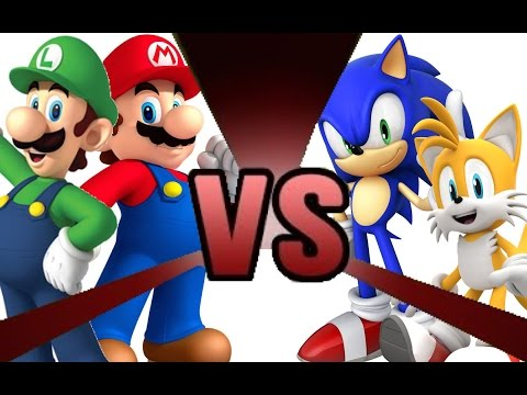 Thumbnail: MARIO and LUIGI vs SONIC and TAILS! Cartoon Fight Club Episode 3