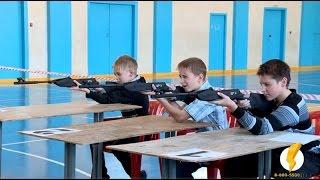 Волжские школьники сдают ГТО в электронном тире Рубин