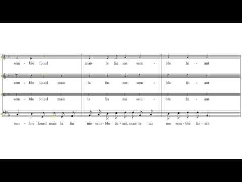 Basse - Clément Janequin Il était une fillette - tutorial - scrolling score