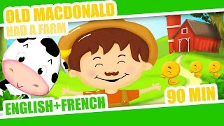 Old Mac Donald had a Farm | French Nursery Rhyme + 90min of kids songs