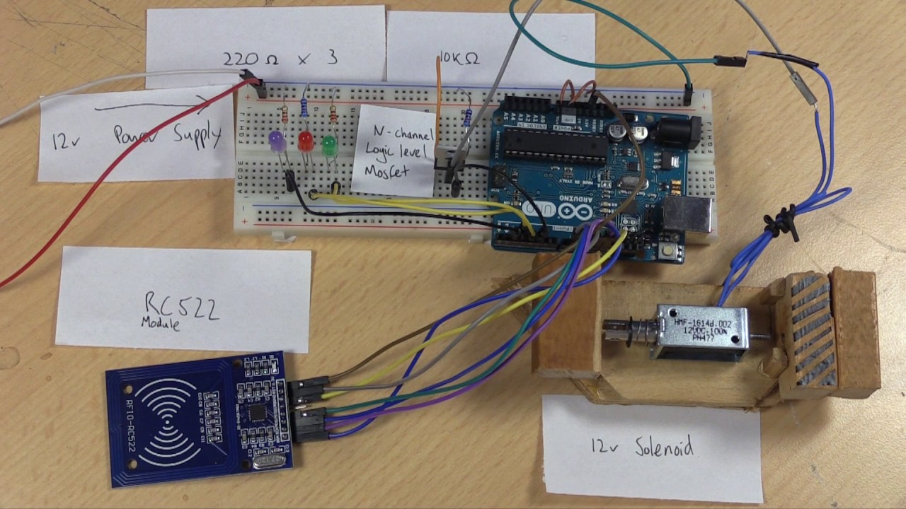 Diy Rfid Smart Lock With Arduino Youtube