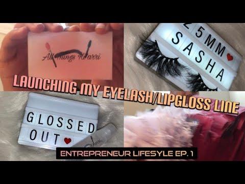 STARTING MY OWN EYELASH/LIPGLOSS + Showing My Inventory | Entrepreneur Life Ep.1