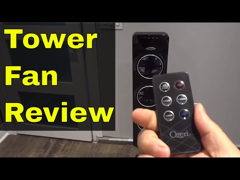 Ozeri 3x Tower Fan Review-Ultra Quiet With 3 Individual Fans-OZF3