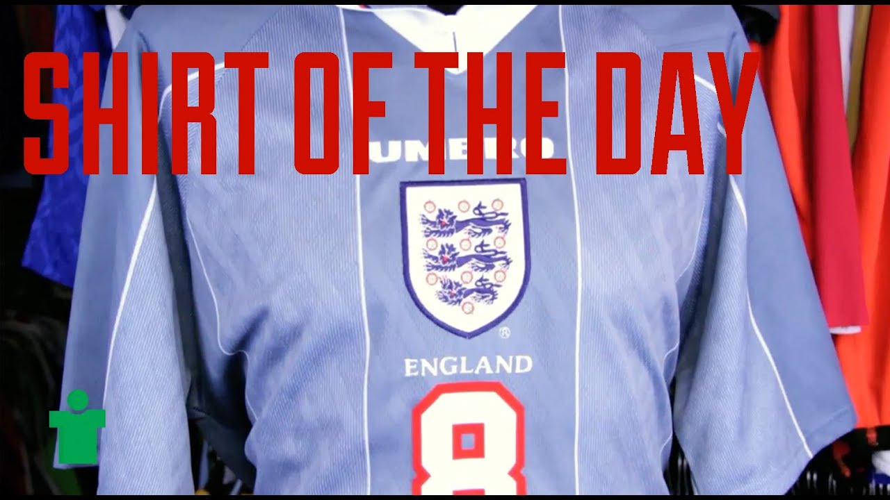 Shirt of the Day - England Euro 96 - YouTube 1d5ed4623