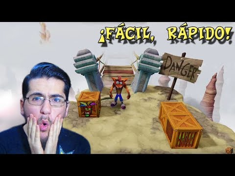 "Crash Bandicoot (PS4) - Truco: Cómo pasar fácil ""Road to Nowhere"" y ""The High Road"""