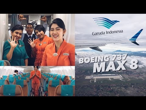 GARUDA INDONESIA Boeing 737-8 MAX Flight Review | SUPERB Experience!