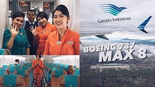 GARUDA INDONESIA Boeing 737-8 MAX Flight Review | SUPERB Experience!