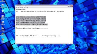 Windows XP Serial Number Key 100% Working And Original