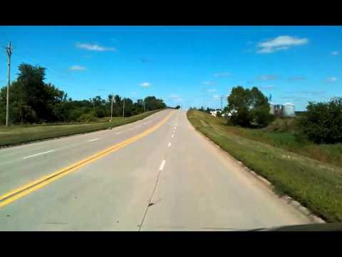 Near Marshalltown, Iowa on US Highway 30 - YouTube