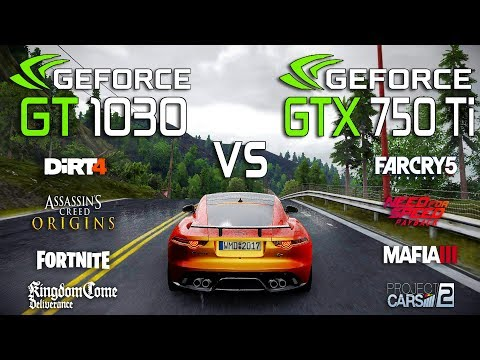 GT 1030 vs GTX 750 Ti Test in 8 New Games