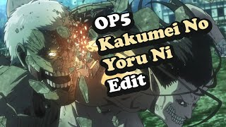 Gambar cover [Attack on Titan] OP 5 but synced with Kakumei no Yoru Ni (Uprising theme by Linked Horizon)