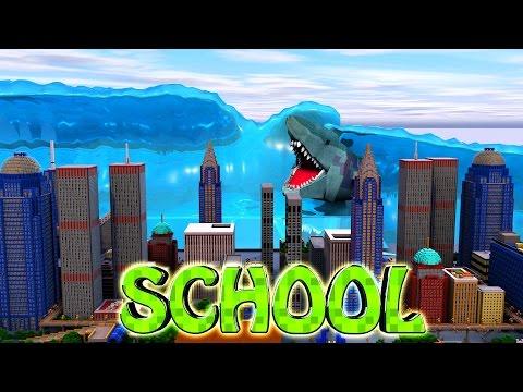 Minecraft School | Military School of Mods - TSUNAMI NATURAL DISASTER!